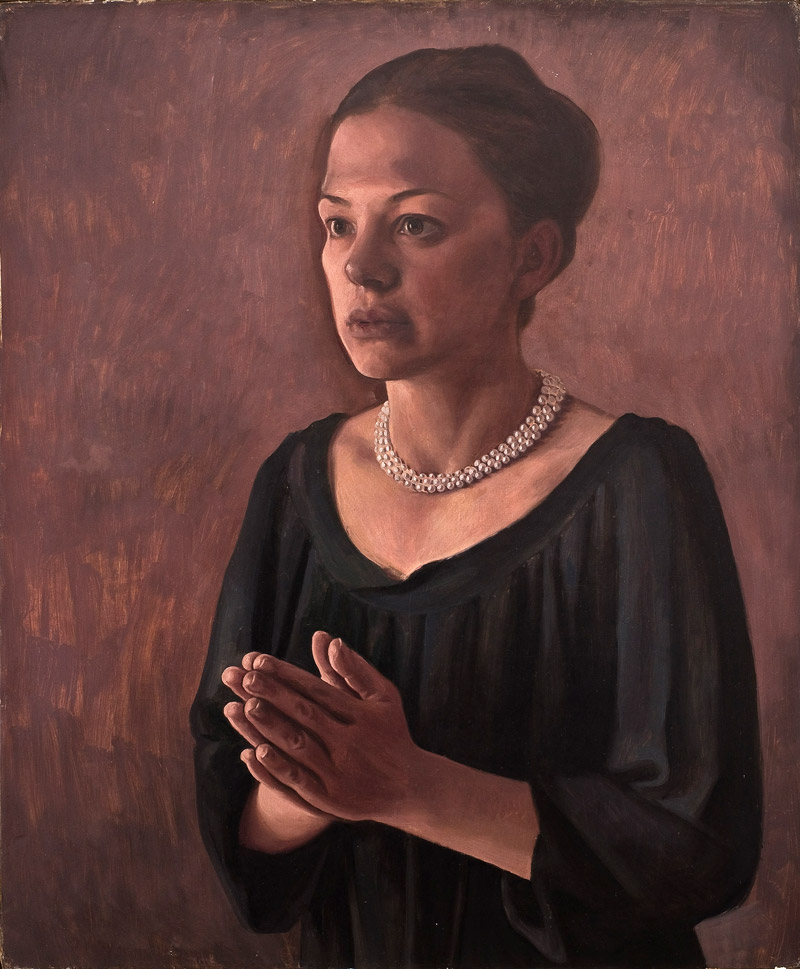 2011 - Due Figure 70x50cm Oil Canvas